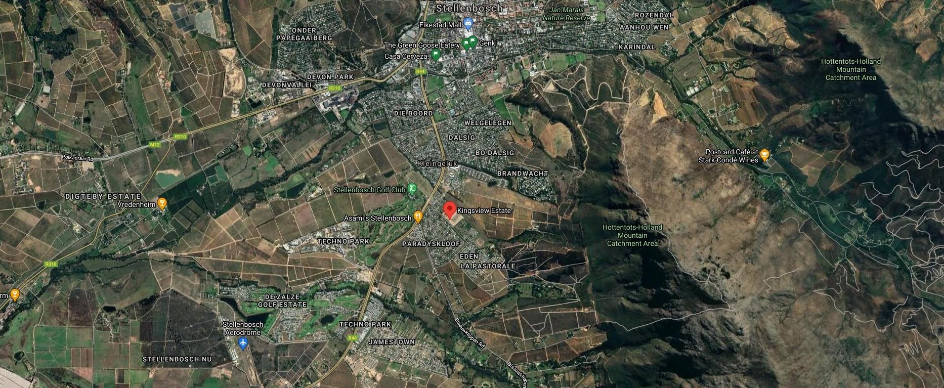 King's View Lifestyle Estate - Winelands, Stellenbosch Map